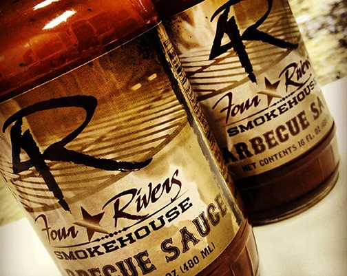 4Rivers barbeque sauce label design