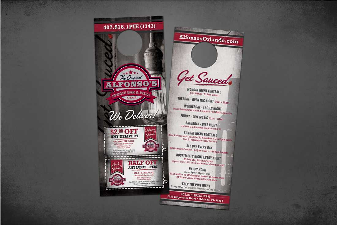 Alfonso's Sports Bar and Pizza direct mail
