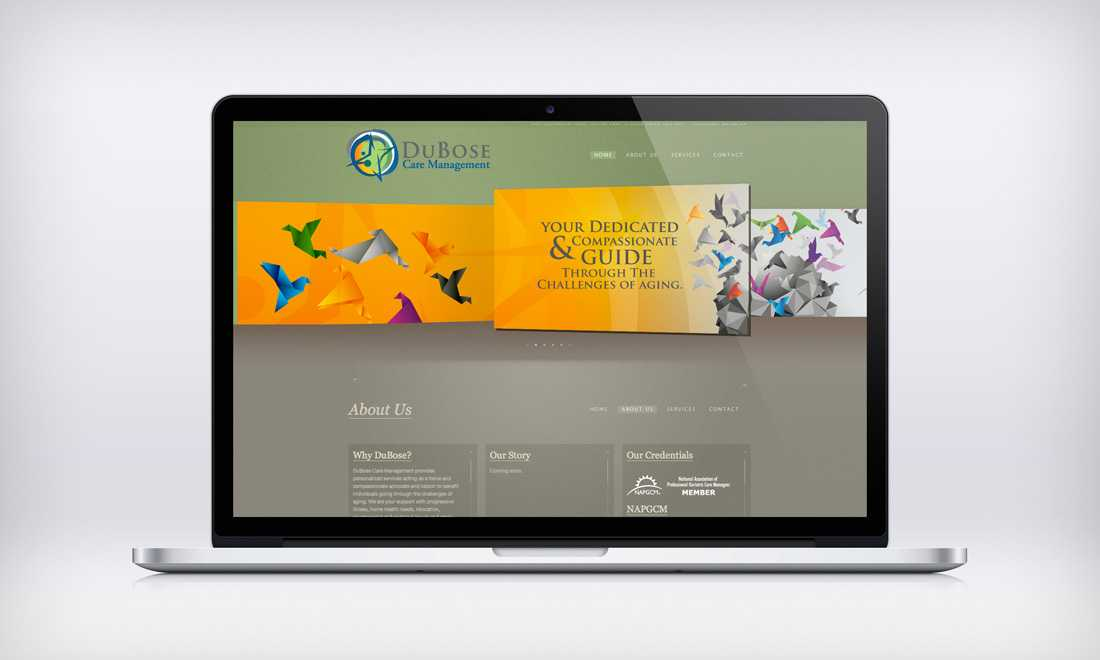 DuBose Care Management website design