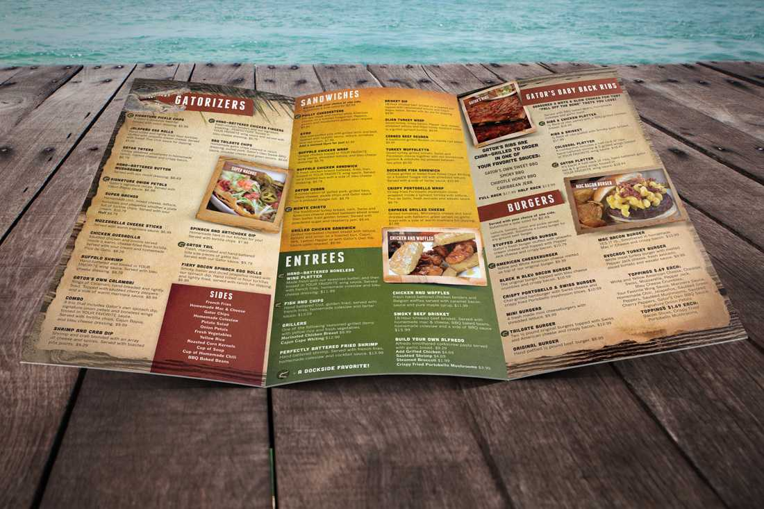 Gators Dockside Menu 2