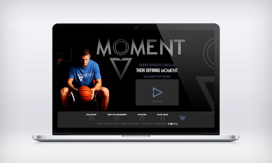 Moment website design