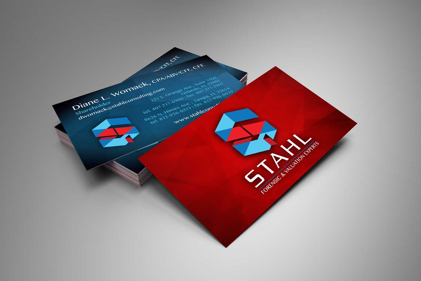 Stahl stationery design and printing