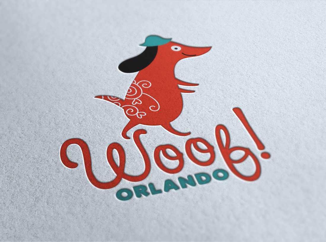 Woof! Orlando logo design