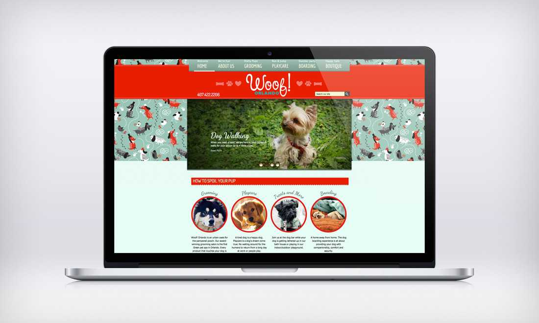 Woof! Orlando website design