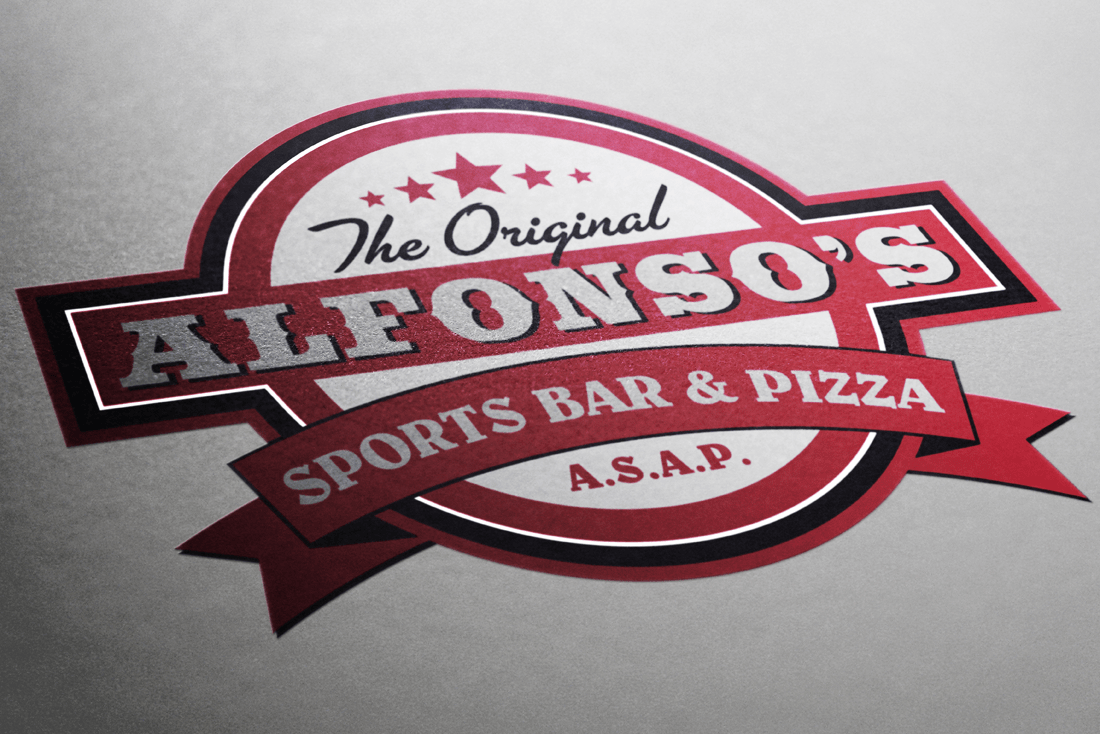 Alfonso's Sports Bar and Pizza logo design