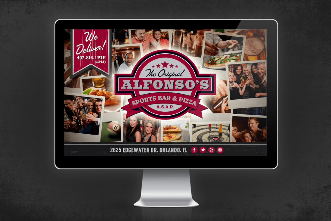 Alfonso's Sports Bar and Pizza splash page