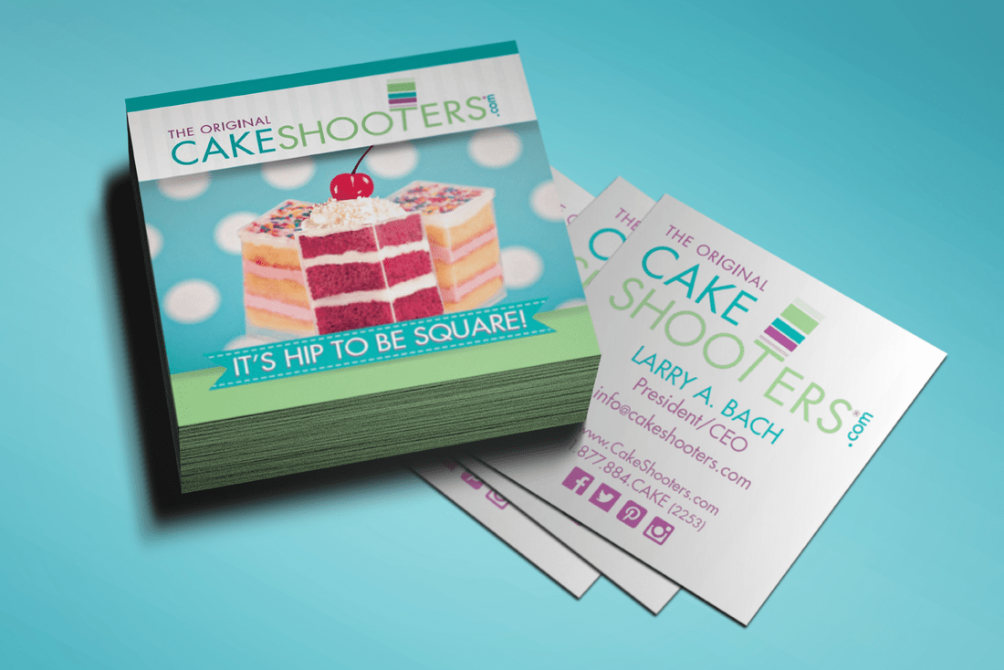 Cakeshooters® business cards