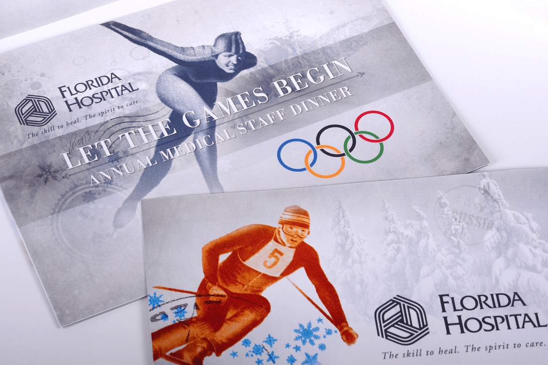 Florida Hospital's 2013 Winter Games gala invitation