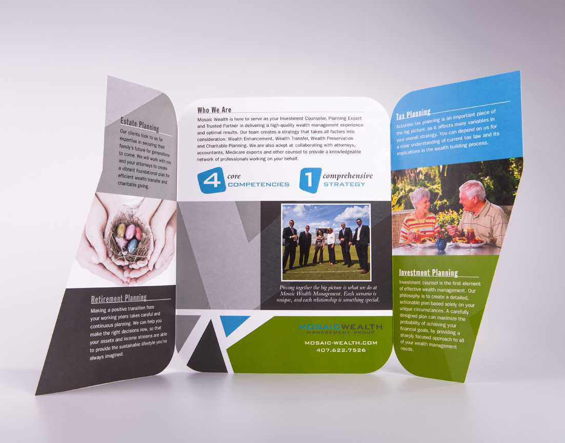 Mosaic Wealth Management Group brochure design and printing