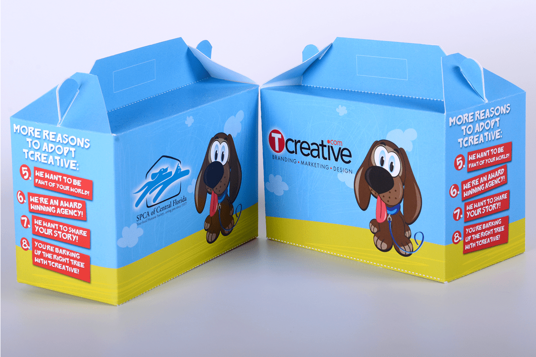 SPCA/TCreative promotional giveaway