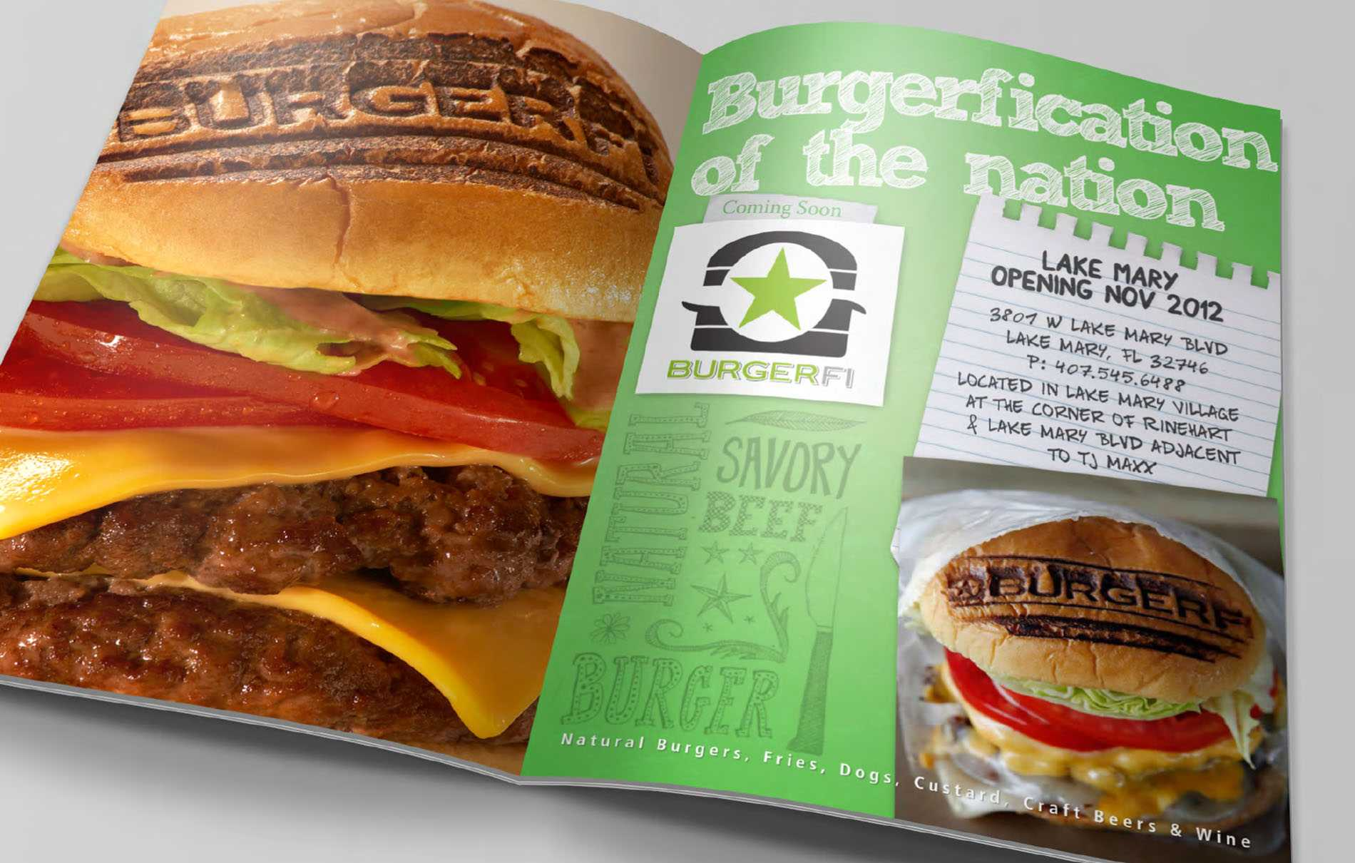 BurgerFi magazine print ad