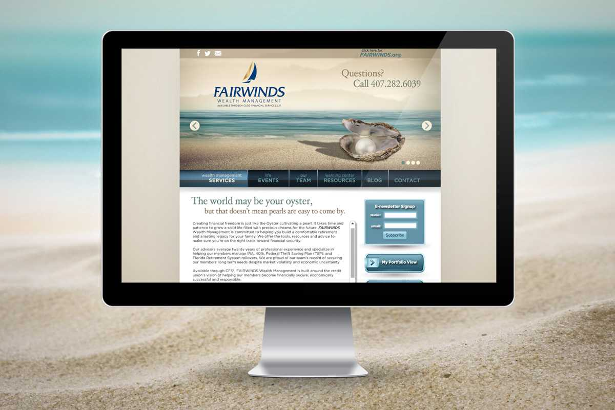 Fairwinds Wealth Management 2013 site