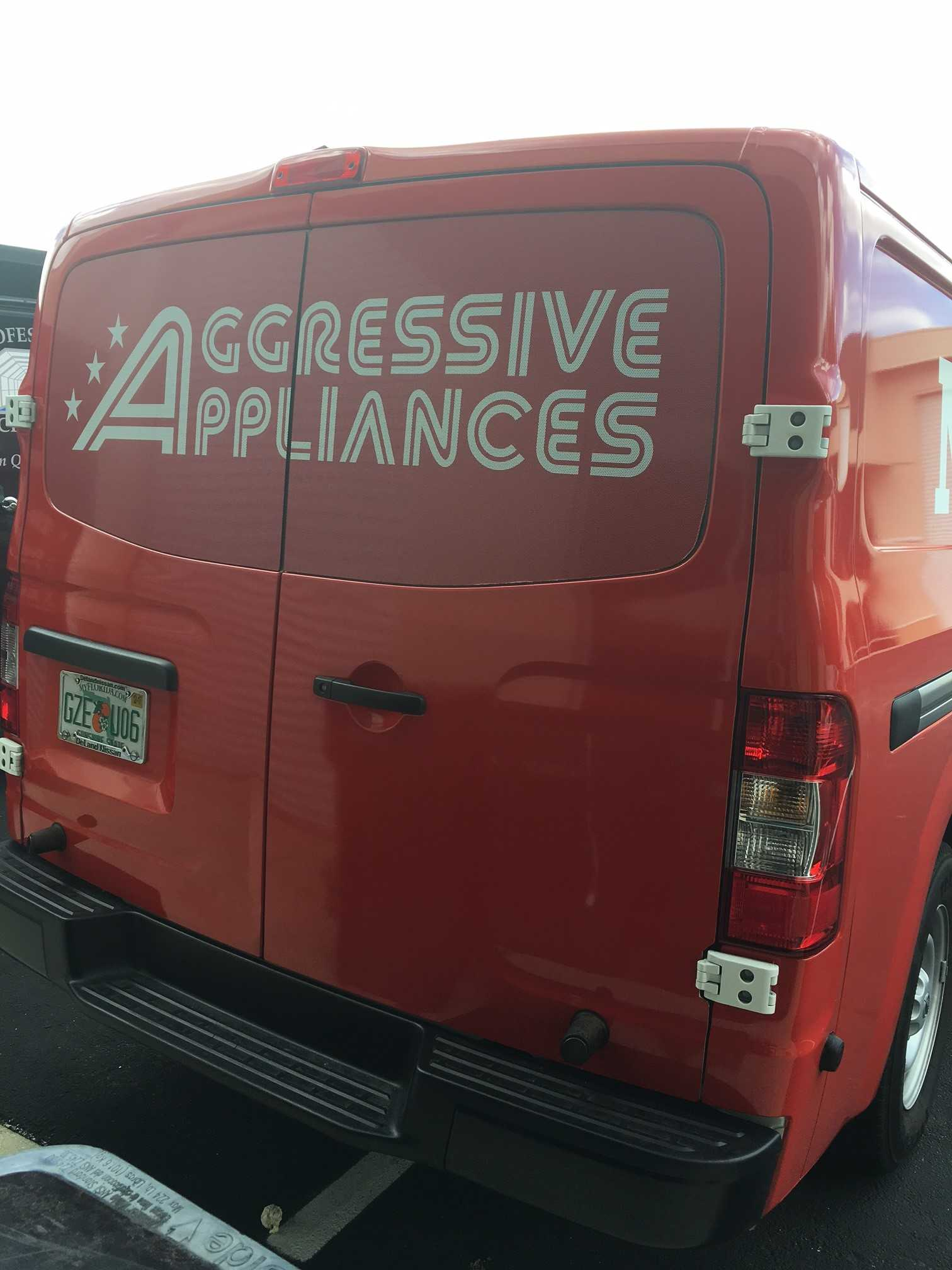 Aggressive Appliances - van red 2