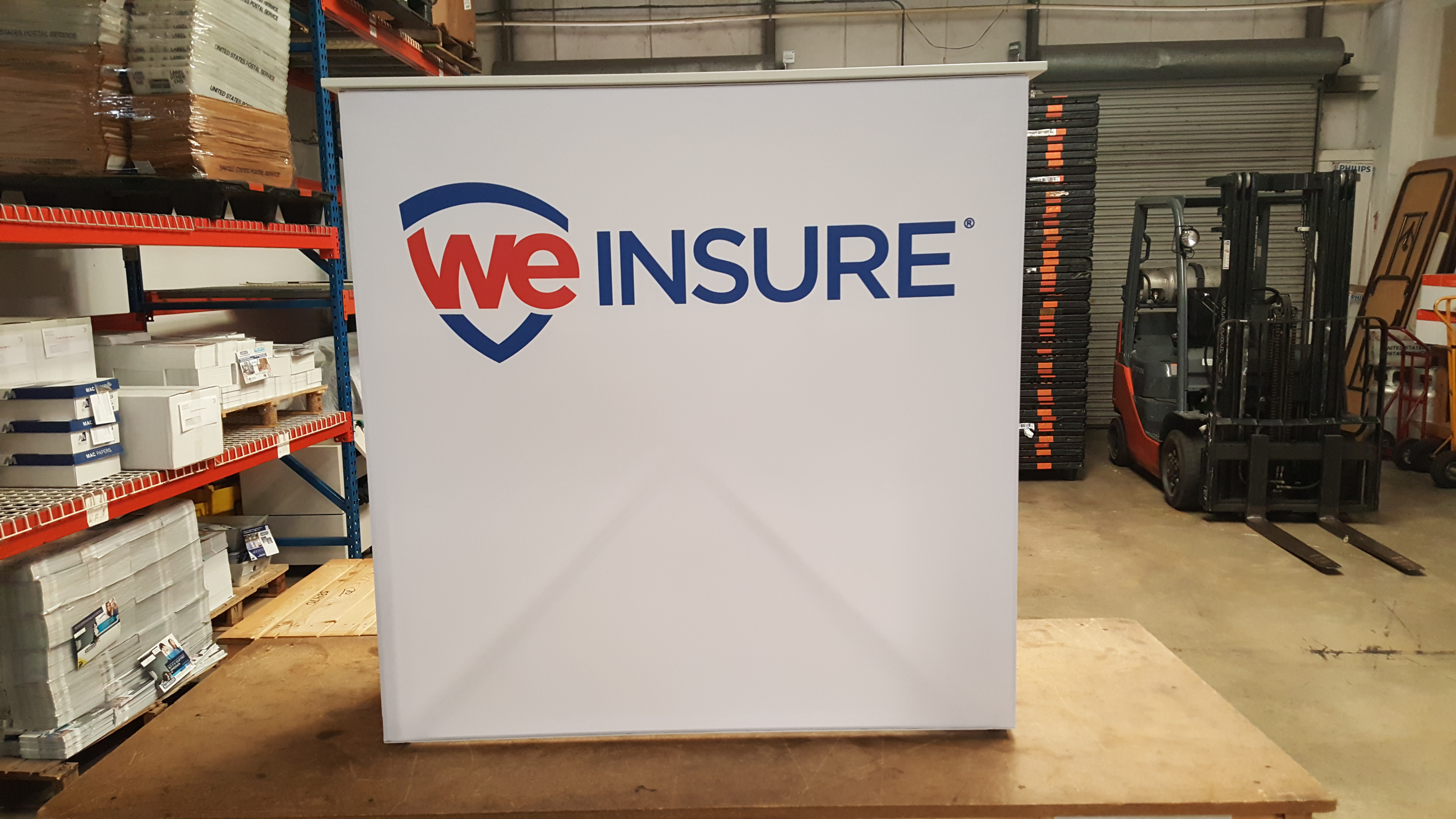 We Insure Box Sign