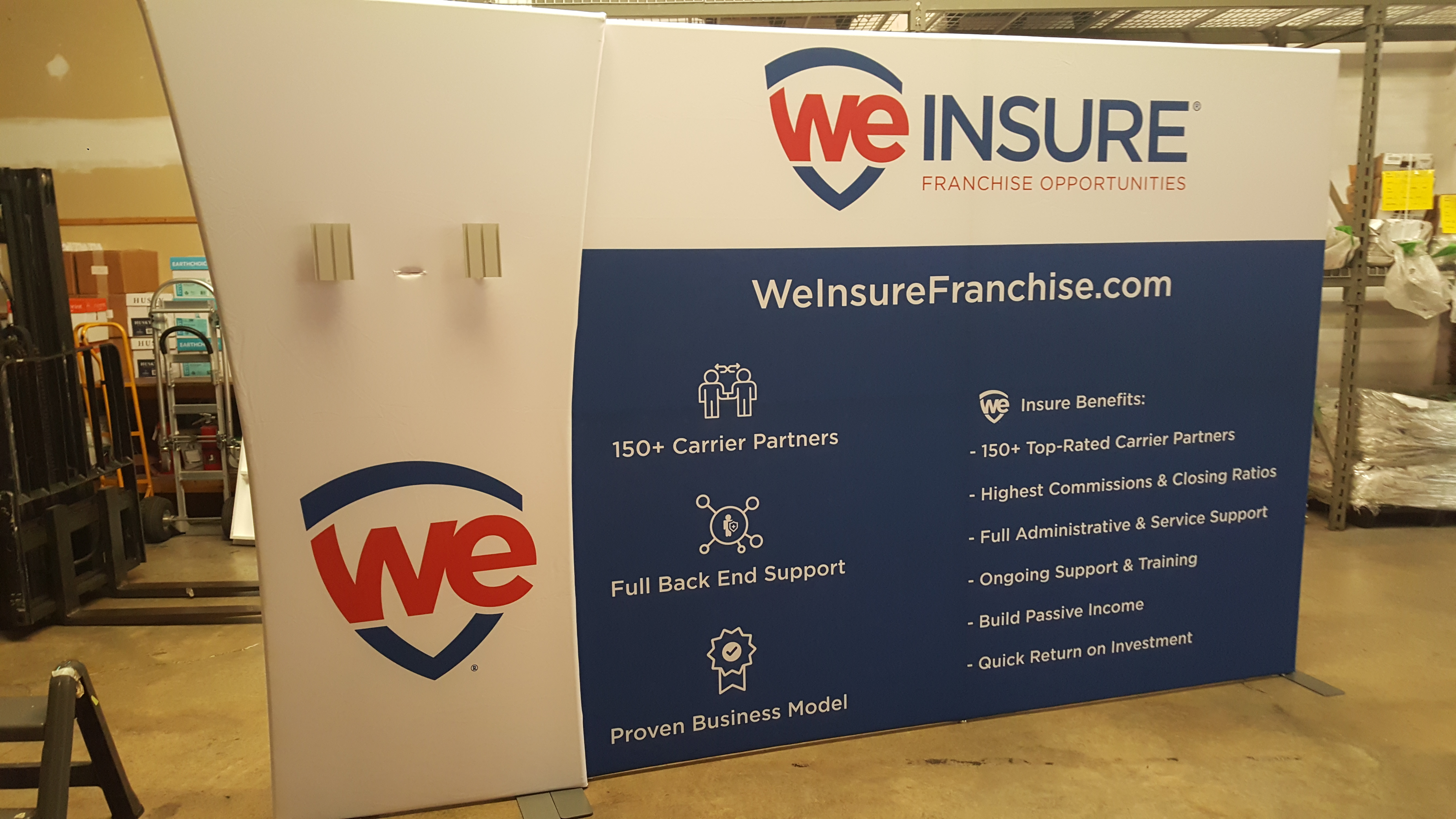 We Insure Franchise Sign