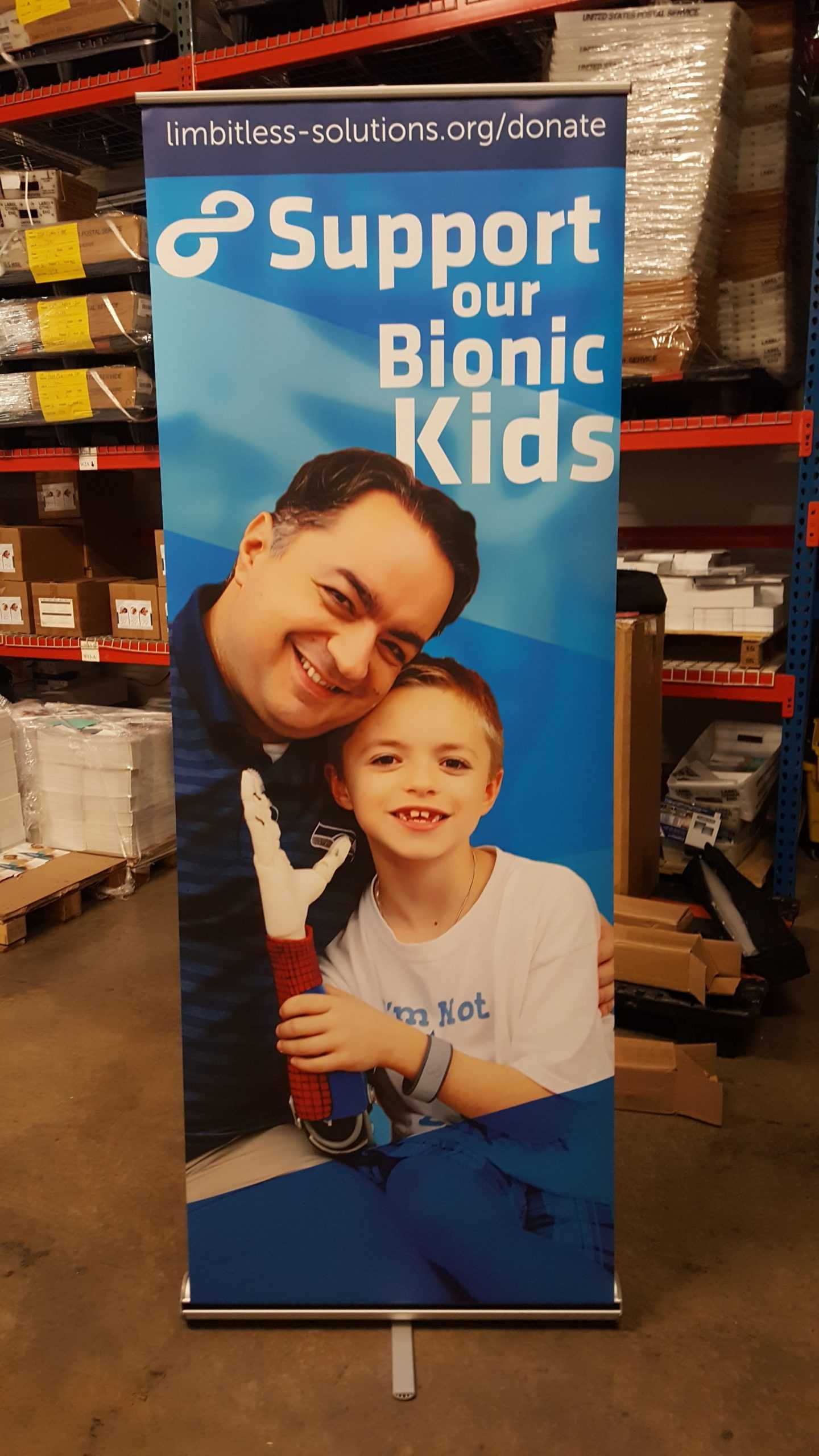 Support Bionic Kids Sign