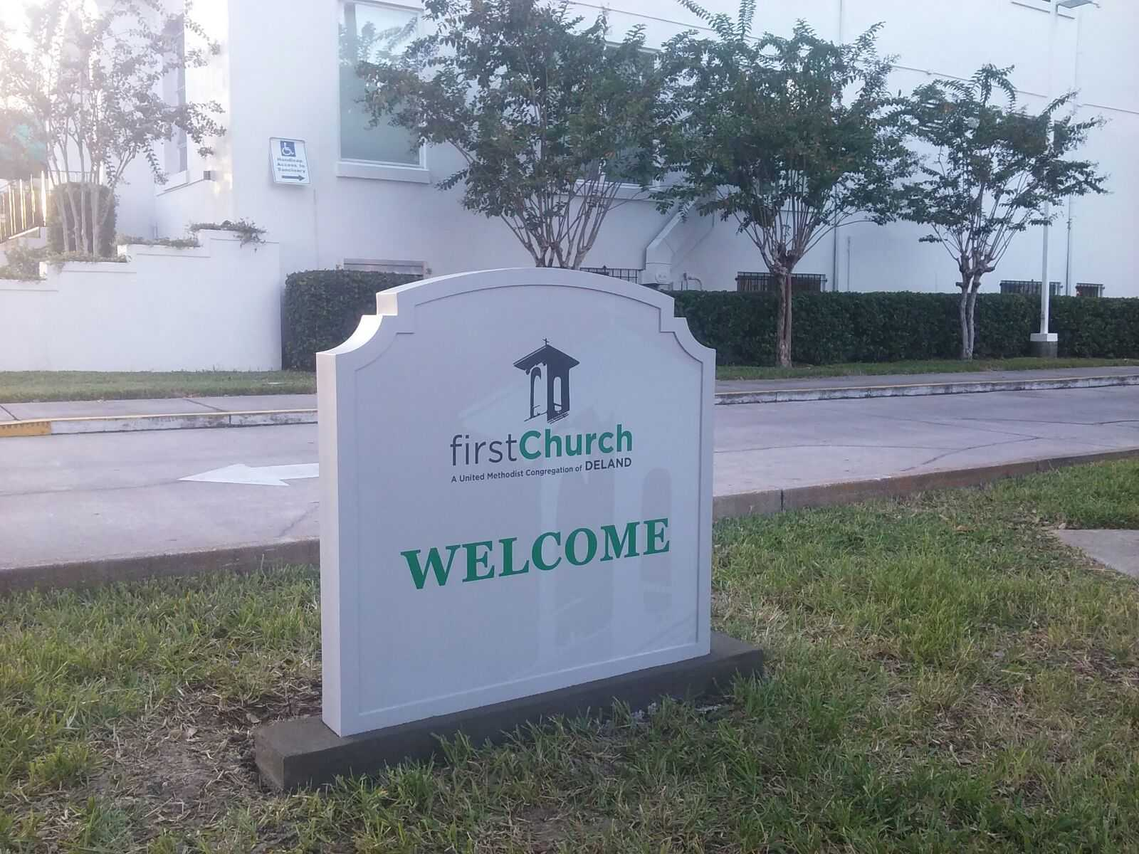 First Church Sign