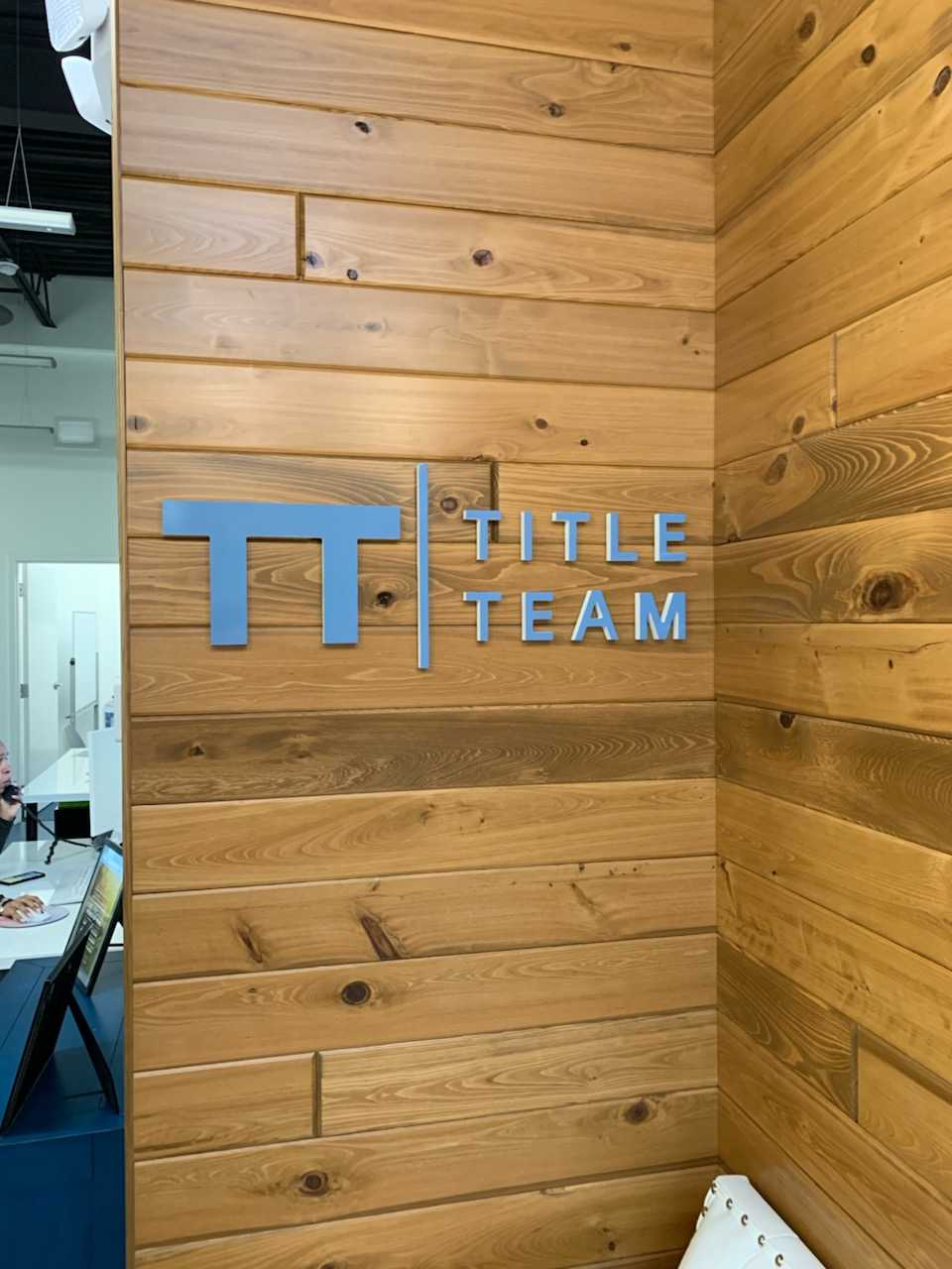 Title Team Wall Sign